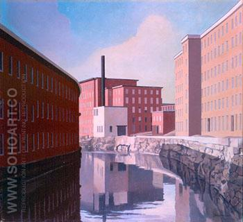 Amoskeag Canal , 1948 - Charles Sheeler reproduction oil painting