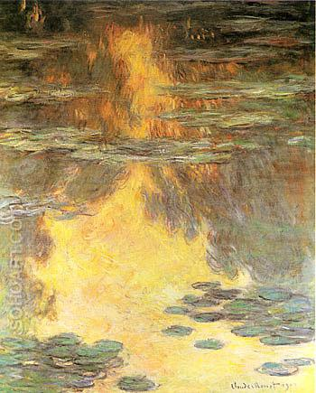 Water Lilies Water Landscape 1907 - Claude Monet reproduction oil painting