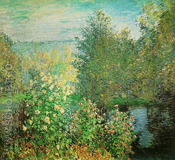 The Corner of the Garden at Montgeron 1876 - Claude Monet reproduction oil painting