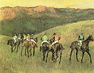 Race Horses in a Landscape 1894 - Edgar Degas reproduction oil painting