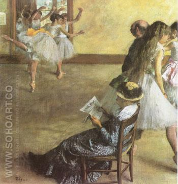 The Dance Lesson 1881 - Edgar Degas reproduction oil painting