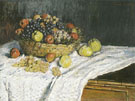 Still Life with Grapes and Apples 1880 - Claude Monet reproduction oil painting