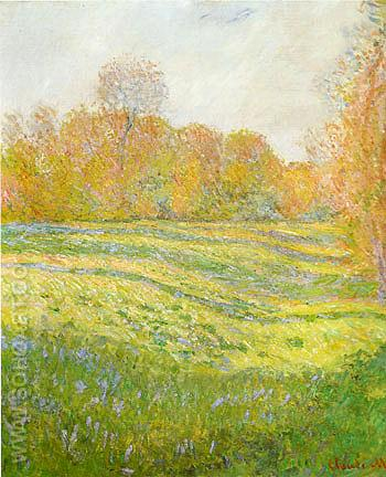 Meadow at Giverny 1886 - Claude Monet reproduction oil painting