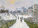 Boulevard St Denis Argentueil in Winter 1975 - Claude Monet reproduction oil painting