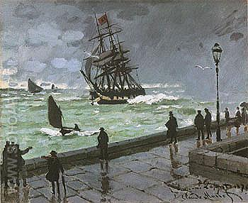 The Jetty at Le Havre 1870 - Claude Monet reproduction oil painting