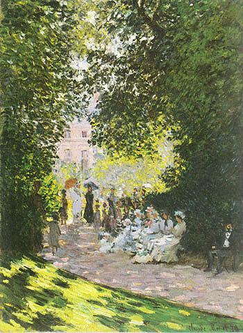 Monceau Park 1878 - Claude Monet reproduction oil painting
