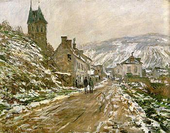 Road to Vetheuil Winter 1879 - Claude Monet reproduction oil painting