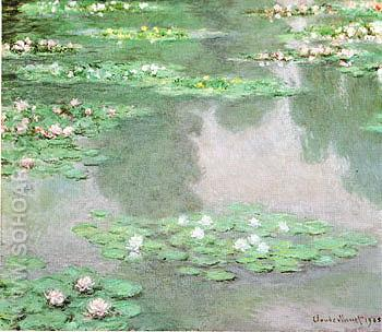 Water Lilies 1905 2 - Claude Monet reproduction oil painting