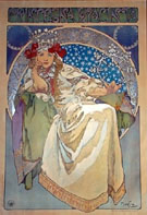 Princezna  Hyancinta - Alphonse Mucha reproduction oil painting