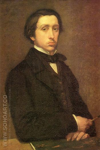 self-portrait 1854 - Edgar Degas reproduction oil painting