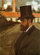 Henri Rouart in Front of His Factory 1875 - Edgar Degas reproduction oil painting