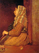 Roman Beggar Woman 1857 - Edgar Degas reproduction oil painting