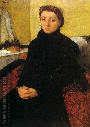 Portrait of Josephine Gaujelin - Edgar Degas reproduction oil painting