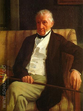 Portrait of Hilaire 1857 - Edgar Degas reproduction oil painting