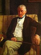 Portrait of Hilaire 1857 - Edgar Degas reproduction oil painting