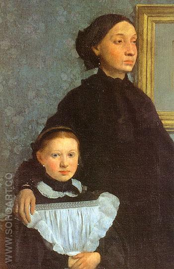 The Bellelli Family detail 1858 - Edgar Degas reproduction oil painting
