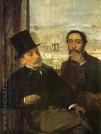 The Artist and His Friend Evariste de Valernes 1865 - Edgar Degas reproduction oil painting