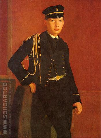 Achille De Gas in the Uniform of a Cadet - Edgar Degas reproduction oil painting