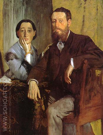 Edmondo and Therese Morbilli 1865 - Edgar Degas reproduction oil painting