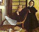 Henri De Gas and his Niece Luicie De Gas 1876 - Edgar Degas reproduction oil painting