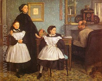 The Bellelli Family 1858 - Edgar Degas reproduction oil painting