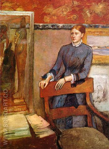 Helene Rouart in her Father's Study 1886 - Edgar Degas reproduction oil painting