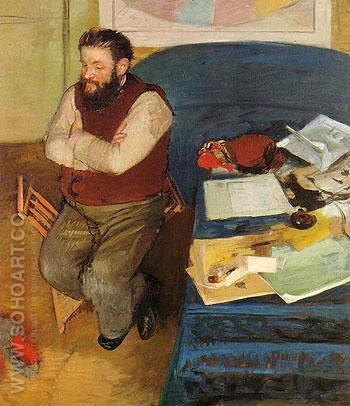 Diego Martelli 1879 - Edgar Degas reproduction oil painting