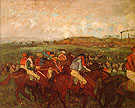 The Gentlemans Race Before the Start 1862 - Edgar Degas reproduction oil painting