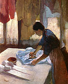 Woman Ironing 1887 - Edgar Degas reproduction oil painting