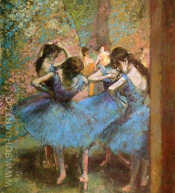 Blue Dancers 1893 - Edgar Degas reproduction oil painting