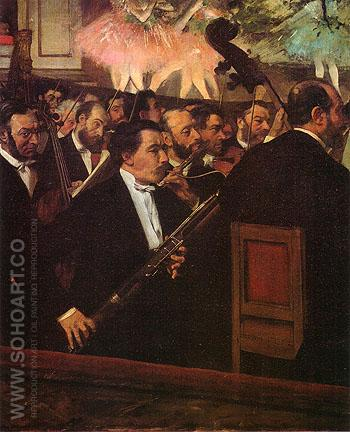 The Orchestra of the Opera 1870 - Edgar Degas reproduction oil painting