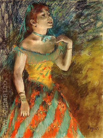 The Singer in Green 1884 - Edgar Degas reproduction oil painting