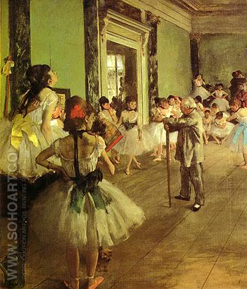 Dance Class 1875 - Edgar Degas reproduction oil painting
