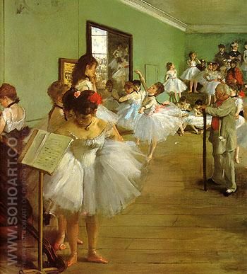 The Dance Class 1874 - Edgar Degas reproduction oil painting