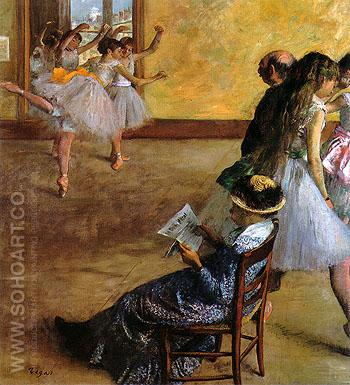 The Dance Lesson 1881 - Edgar Degas reproduction oil painting