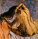 Woman Combing Her Hair 1897 - Edgar Degas reproduction oil painting