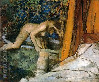 The Bath 1895 - Edgar Degas reproduction oil painting
