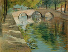 Canal in Holland Reflection 1883 - William Merrit Chase reproduction oil painting