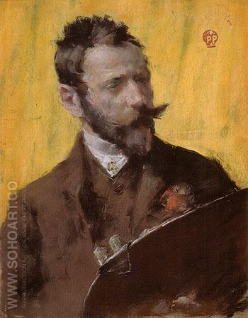 Portrait Portrait of the Artist 1883 - William Merrit Chase reproduction oil painting
