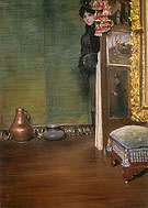May I come In c1883 - William Merrit Chase reproduction oil painting