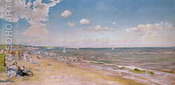 The Beach at Zandvoort The Beach - William Merrit Chase reproduction oil painting