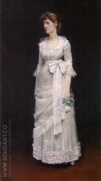 Lady in White Gown 1885 - William Merrit Chase reproduction oil painting