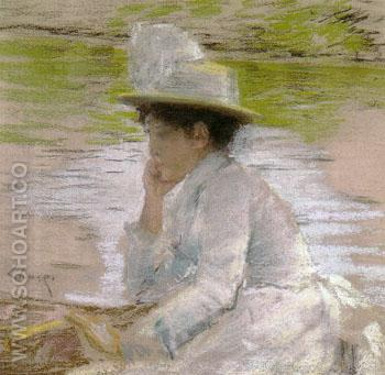 Untitled Portait of Mrs Chase 1886 - William Merrit Chase reproduction oil painting