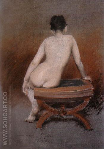 Seated Nude 1888 - William Merrit Chase reproduction oil painting