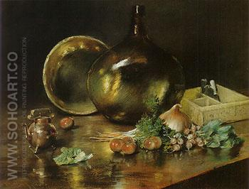 Collection of Brass Pots 1888 - William Merrit Chase reproduction oil painting
