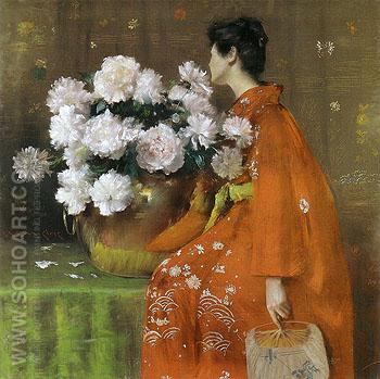 Spring Flowers Peonies 1889 - William Merrit Chase reproduction oil painting