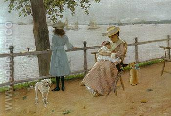 Afternoon by the Sea 1889 - William Merrit Chase reproduction oil painting