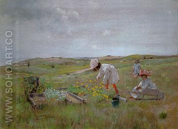 The Little Gerden 1895 - William Merrit Chase reproduction oil painting
