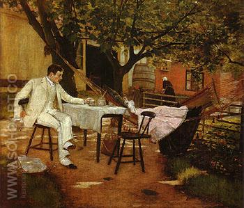 A Summer Afternoon in Holland Sunlight and Shadow 1884 - William Merrit Chase reproduction oil painting