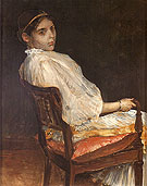 Alice in White 1886 - William Merrit Chase reproduction oil painting